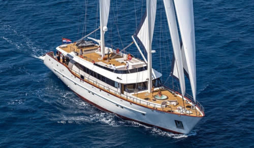 motor sailer cruise Croatia